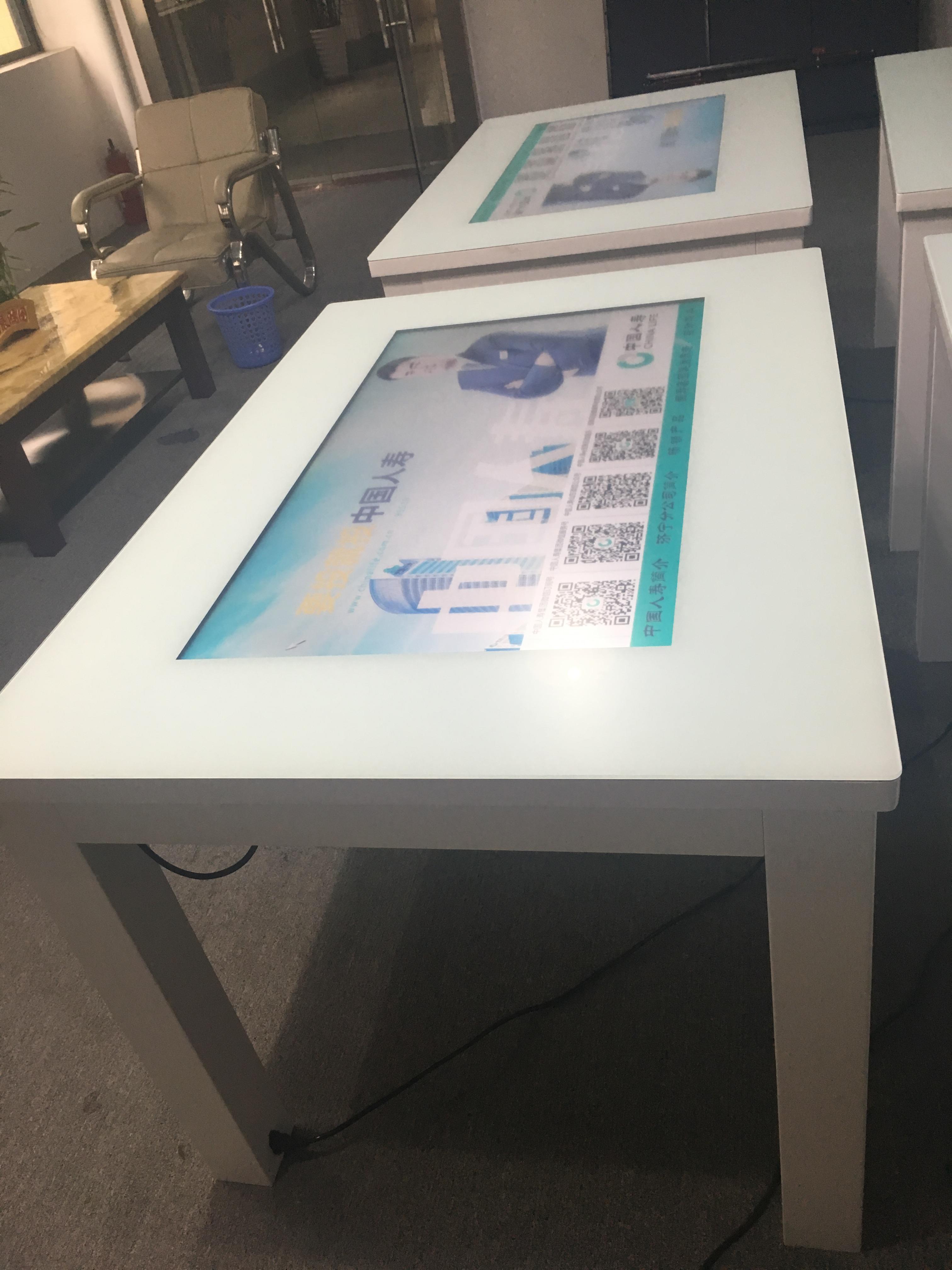 中国人寿定制爱镭仕43寸智能触摸桌,和客户坐下来大屏展示讲解产品更方