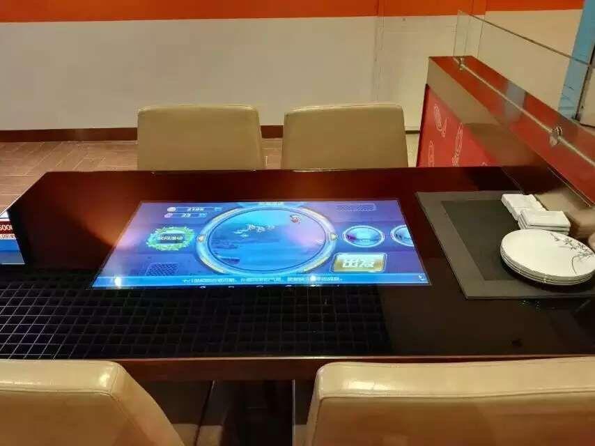 河北秦皇岛某高级餐厅定制50套互动触摸餐桌