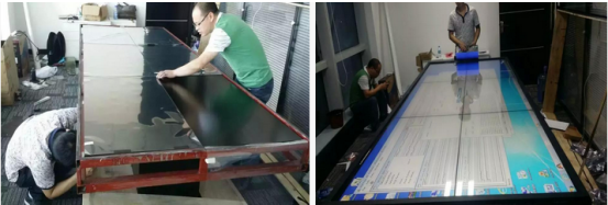 中州国际控股中心 46寸商显拼接屏桌